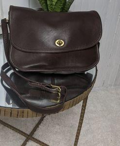 Coach Vintage Dark Brown 'City Bag' 9790 Crossbody